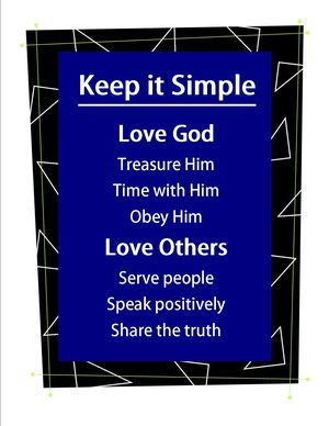 Keep it simple poster3